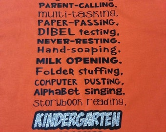 Kindergarten Shirts-teachers with Glitter!!