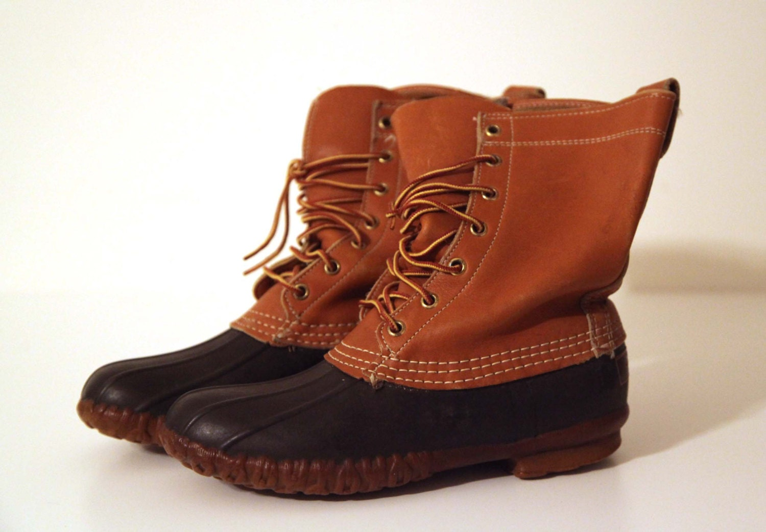 New Size 775 Women39s Vintage LL Bean Duck Boots Leather