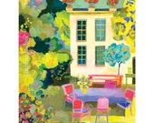 Provence Summer giclee print by Kimberly Hodges, spring, provence style, french cottage, garden print