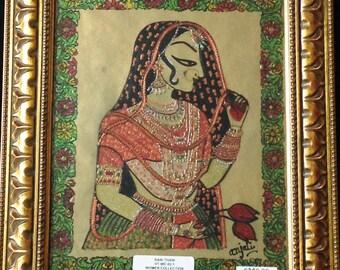 Bani Thani, Woman Painting, Indian Woman, Traditional Indian Painting, Indian Art, Handmade Painting, Colorful Indian Woman,Rajput painting