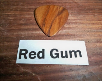 Red Gum Wood Guitar Pick