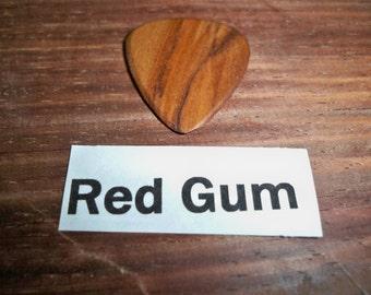 Red Gum Wood Guitar Pick