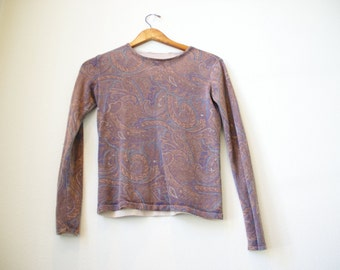 Paisley Patterned Long-Sleeve Shirt