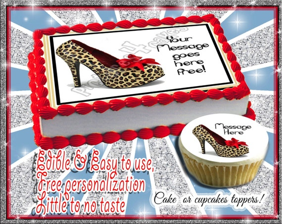 Personalized CAKE High heel shoe edible birthday by ...