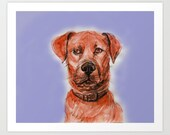 "Dog Pop ART PRINT / MEDIUM (8"" X 9"") - SparrowLittle"