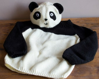 Knitting Pattern Panda Jumper : Totoro baby set Knitting pattern for a Totoro baby romper