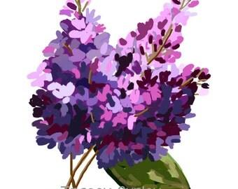 Lilacs - Original Art, lilac clip art, lilac painting