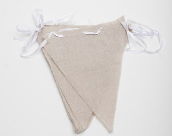 Linen Triangle Pennant Banner