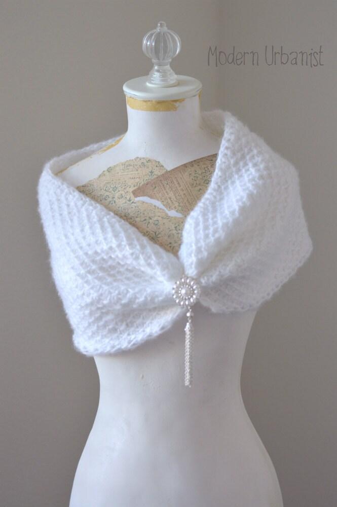 Tunisian Crochet Wedding Wrap Pattern Bridal Tunisian Cowl