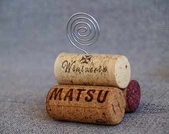 Wine Cork Place Card Holder, Set of 10