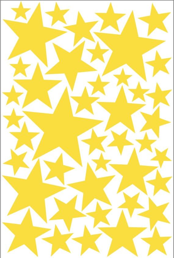 Yellow Little Stars Wall Decal Vinyl Sticker Little Yellow