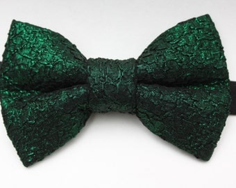Metallic Green Bow Tie