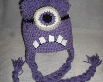 Evil Minion Hat #2 (Ear-Flaps)