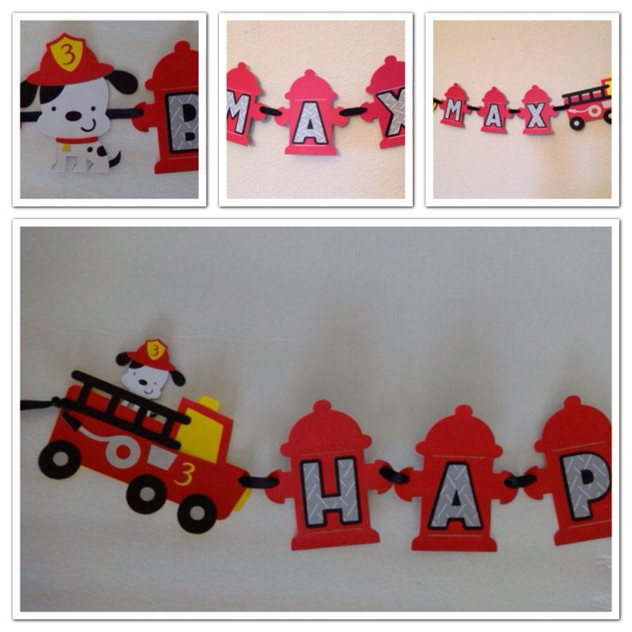 Fire Truck Theme Banner