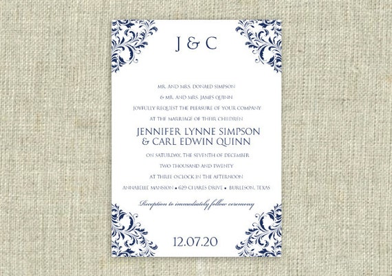 editable wedding invitation templates free download - wedding invitation template download instantly by