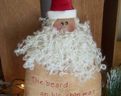 Hand Embroidered Santa Sitter