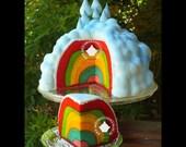 Inside Surprise Rainbow Cake Tutorial