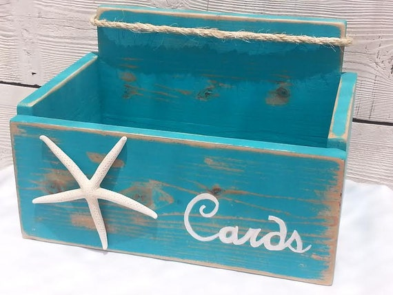 Nautical Wedding Gift Card Holder : Card Wedding Box Holder Starfish with Nautical Rope ~ Beach Nautical ...