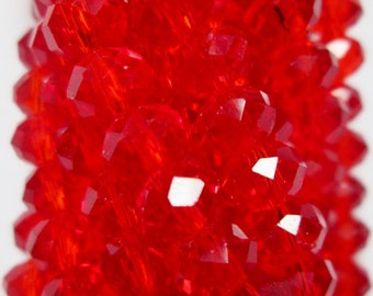 Crystal Faceted Rondelle - 100 pcs - 6 mm - AA quality - full strand, item 06011