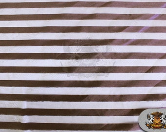 """Organza Stripes Fabric Brown / 60"""" Wide / Sold by the yard"""