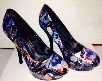 Custom made Batgirl shoes