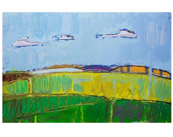 Landscape , summer (ORIGINAL PAINTING) oil painting , free shipping