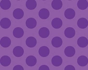 Half Yard This 'N That - Gum Drops in Violet - Cotton Quilt Fabric - Designed by Nancy Halvorsen for Benartex (W1663)
