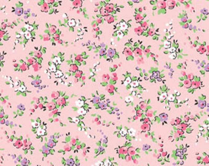 """16"""" REMNANT Sweetie Pie - Petite Nosegays in Pink - Cotton Quilt Fabric - designed by Michele D'Amore for Benartex Fabrics (W1529)"""