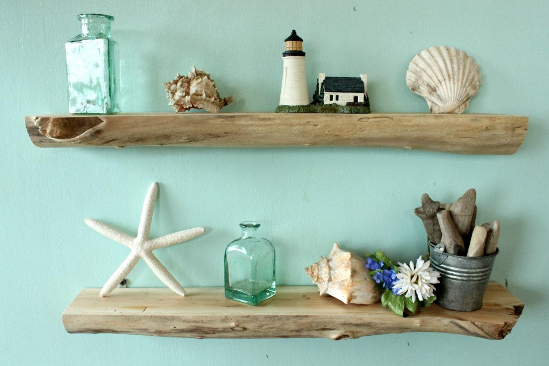 Driftwood wall shelves 22 1 4 set of 2 natural for Driftwood wall shelves