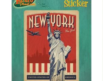New York City Statue Liberty Vinyl Sticker #47912