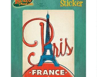Paris France Eiffel Watercolor Look Vinyl Sticker #47929