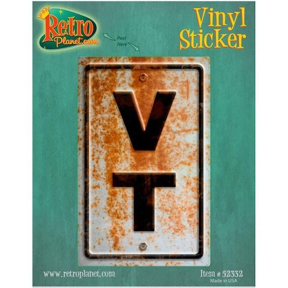 Vermont VT State Abbreviation Rusted Vinyl Sticker 52332