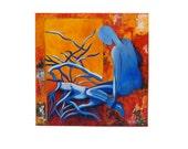 Arte abstracto. Pintura. Tecnica mixta.Textura. Color. Lienzo 3D