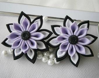 Handmade Kanzashi ladies girls hair clips bows- buy in UK, shipping worldwide-Kanzashi hair accessories