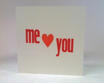 Me heart you card