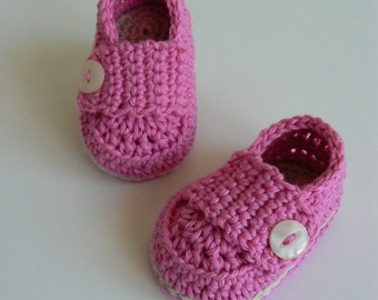 Baby Girl Loafers - Crochet Baby Shoes - Baby Girl Shoes - 0-3 months Baby Shoes - Handmade Baby Shoes -  Babies First Shoes