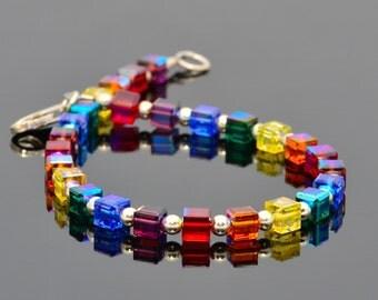 Swarovski Crystal & Silver Simplicity Bracelet