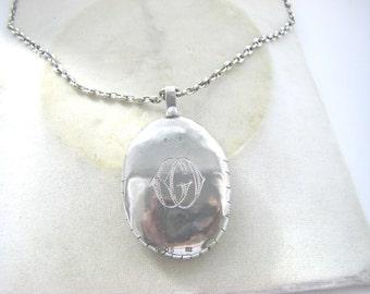 ANTIQUE STERLING PENDANT: antique  necklace sterling. pendant sterling antique necklace pendant. Antique mineral stone pendant.