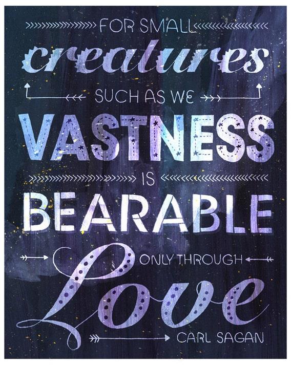 Typographic Carl Sagan Love Poster