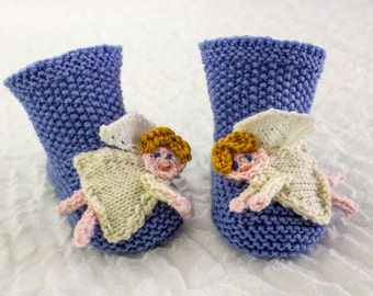 Christmas Baby Booties Knitting Pattern : KNITTING PATTERN PDF Santa Booties Four Sizes Christmas