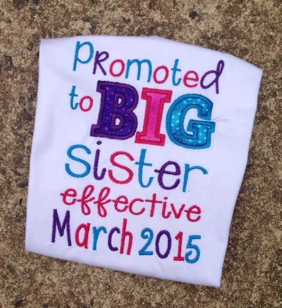 Promoted To Big Sister Shirt You Choose by AuntieBsBoutique87