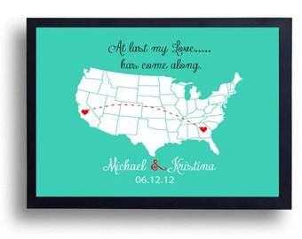1st anniversary gift wedding sign california state art for Anniversary gifts for men 1 year