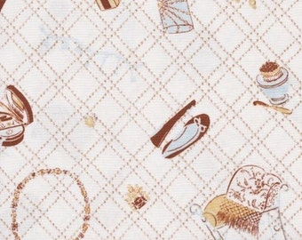 Windham Fabrics Bon Vivant 32166 6 Mirror Perfume on Cream by the Yard