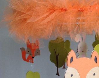 Foxy crib mobile, toddler room decor, kids room decor