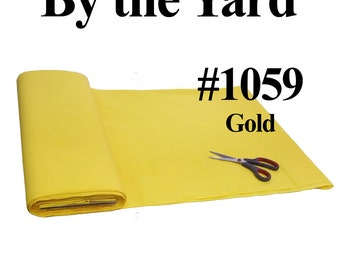 """45"""" Gold Broadcloth Fabric - By The Yard"""