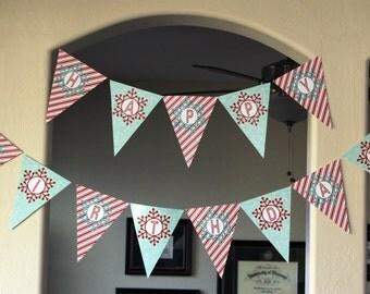 Winter ONEderland Happy Birthday Banner