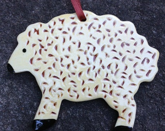 Sheep - Pennsylvania Redware Ornament