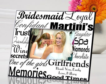 Personalized Bridesmaid Frame - Gifts for Mom - Mother's Day Gifts - Bridesmaids Gift (515)