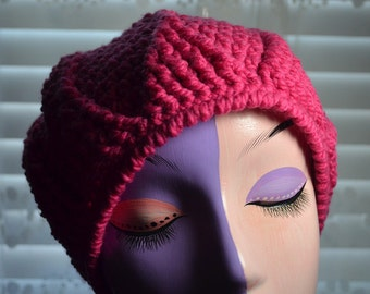 Bright Pink woman's slouch hat.