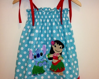 Disney inspired Lilo and Stitch Sundress in sizes 6 month -8 year
